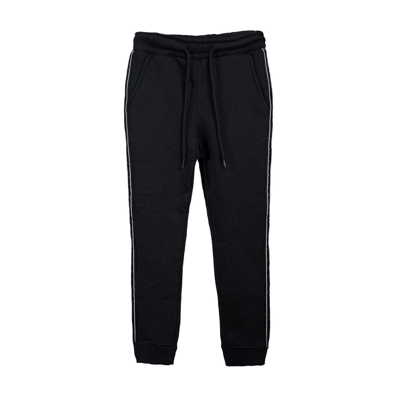 Damen Sweatpants, black, tape