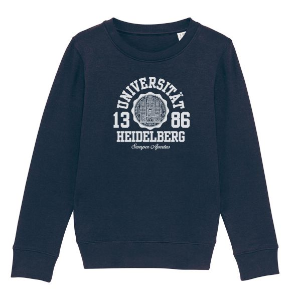 Kids Organic Sweatshirt, french navy, marshall