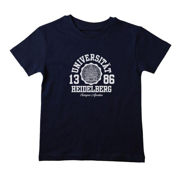 Boys Organic T-Shirt, navy, marshall