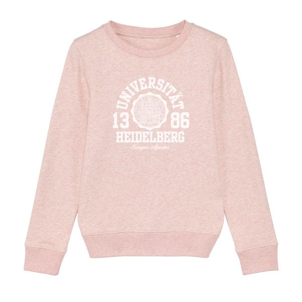 Kids Organic Sweatshirt, cream heather pink, marshall