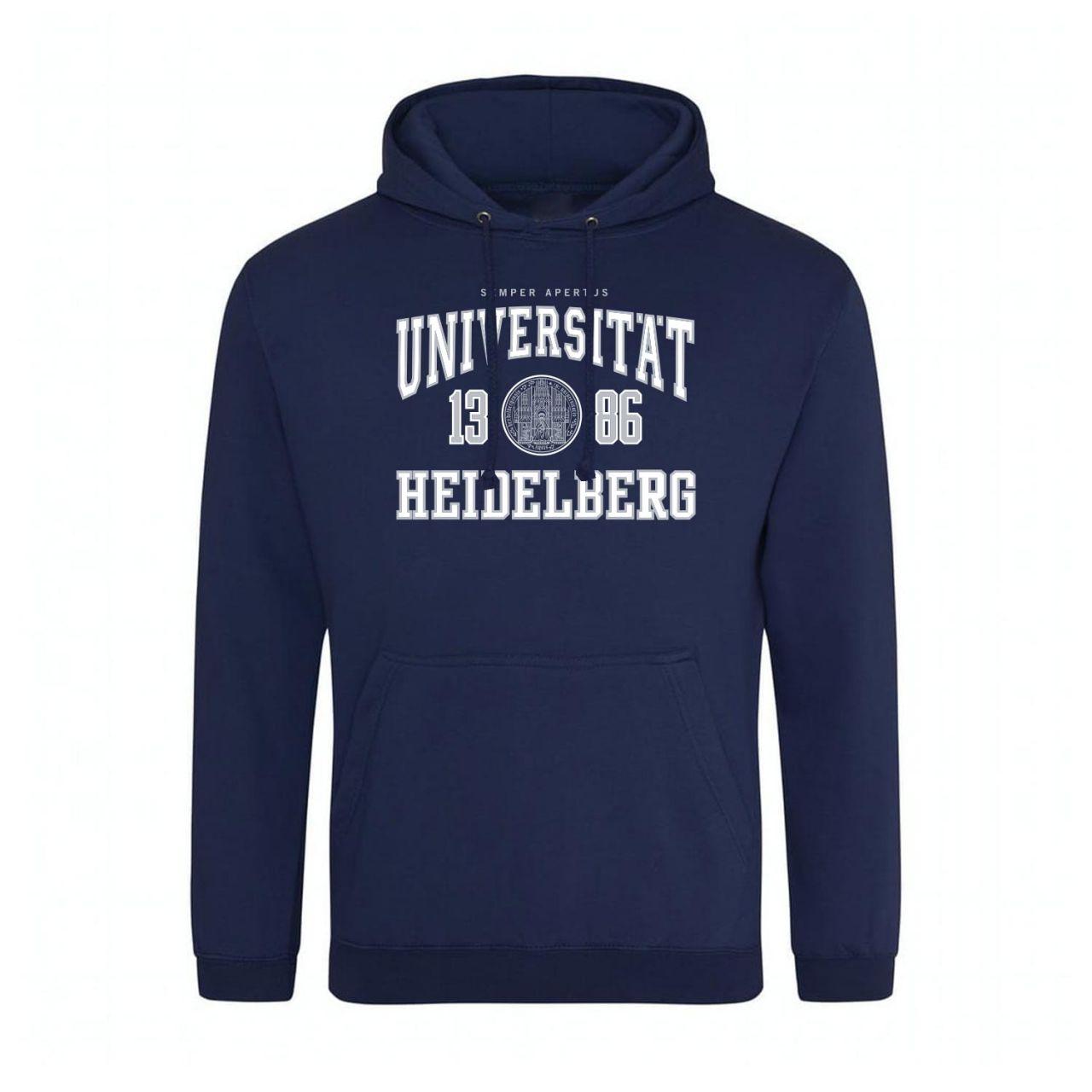 Classic Hooded Sweatshirt, navy, classic