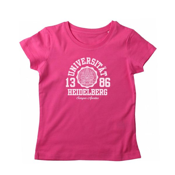 Girls Organic T-Shirt, pink, marshall
