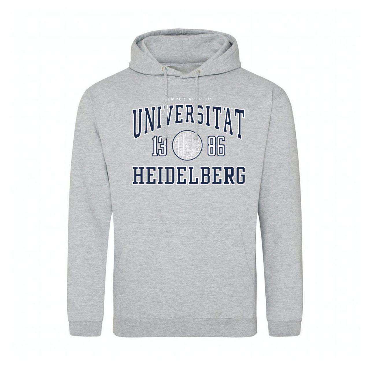 Classic Hooded Sweatshirt, heather grey, classic