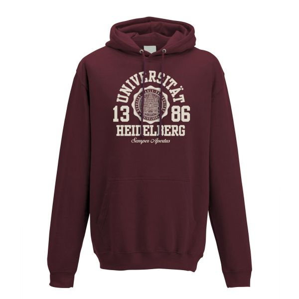 Classic Hooded Sweatshirt, burgundy, marshall