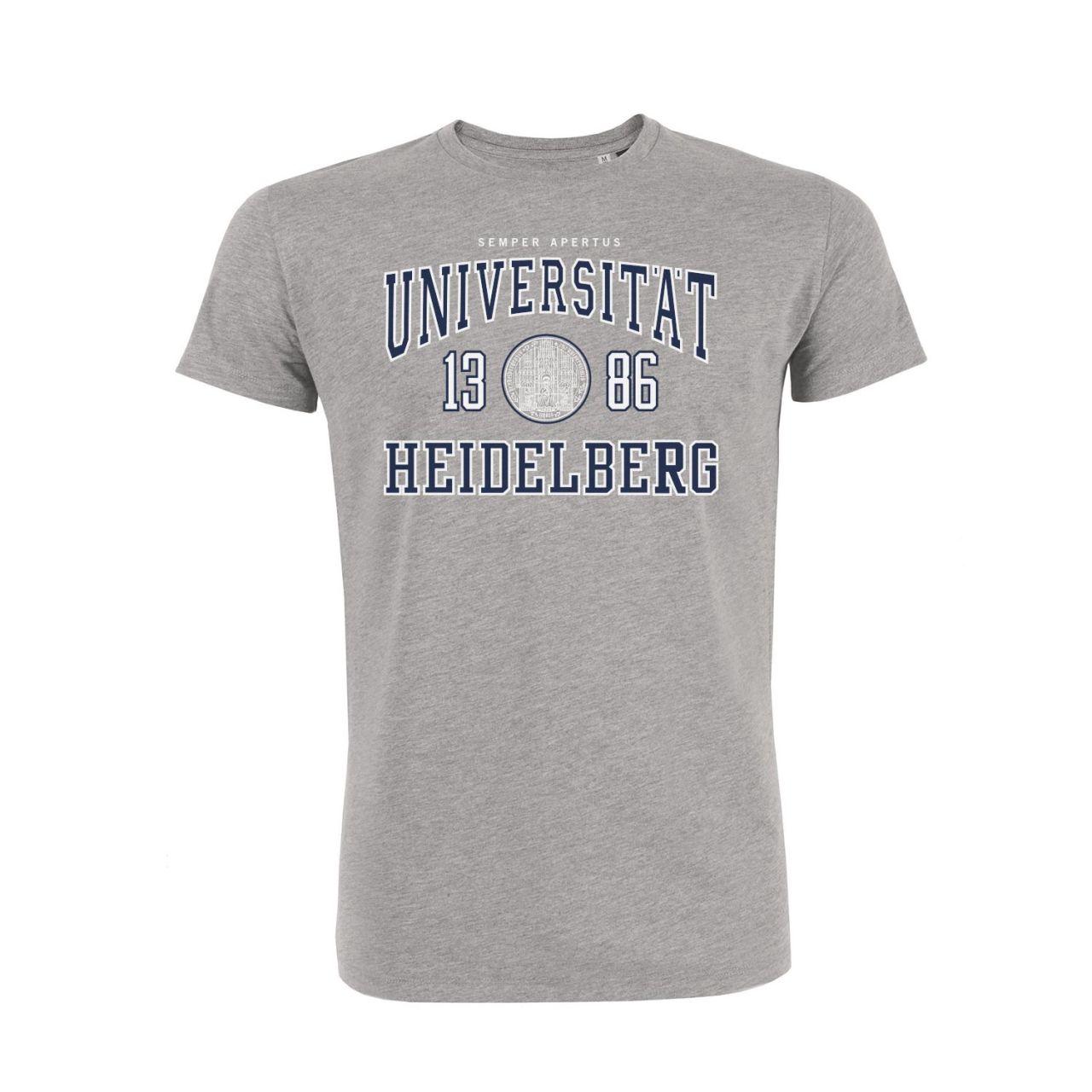 Herren Organic T-Shirt, heather grey, classic