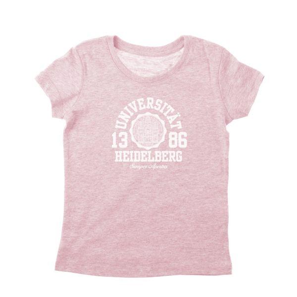 Girls Organic T-Shirt, heather pink, marshall