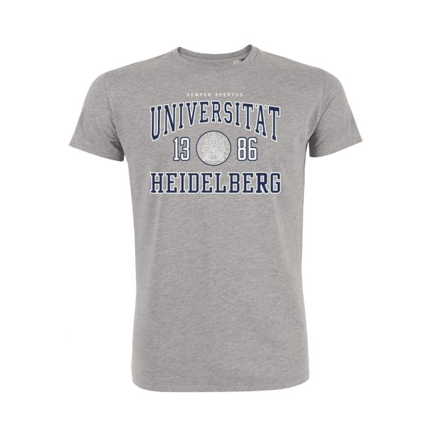 Herren Organic T-Shirt, heather grey, classic