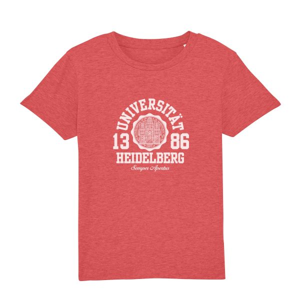 Kids Organic T-Shirt, mid heather red, marshall