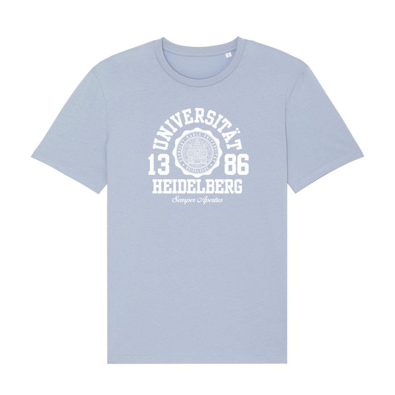 Herren Organic T-Shirt, serene blue, marshall