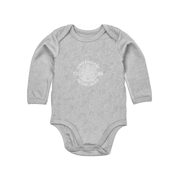 Baby Bodysuit, heather grey, siegel