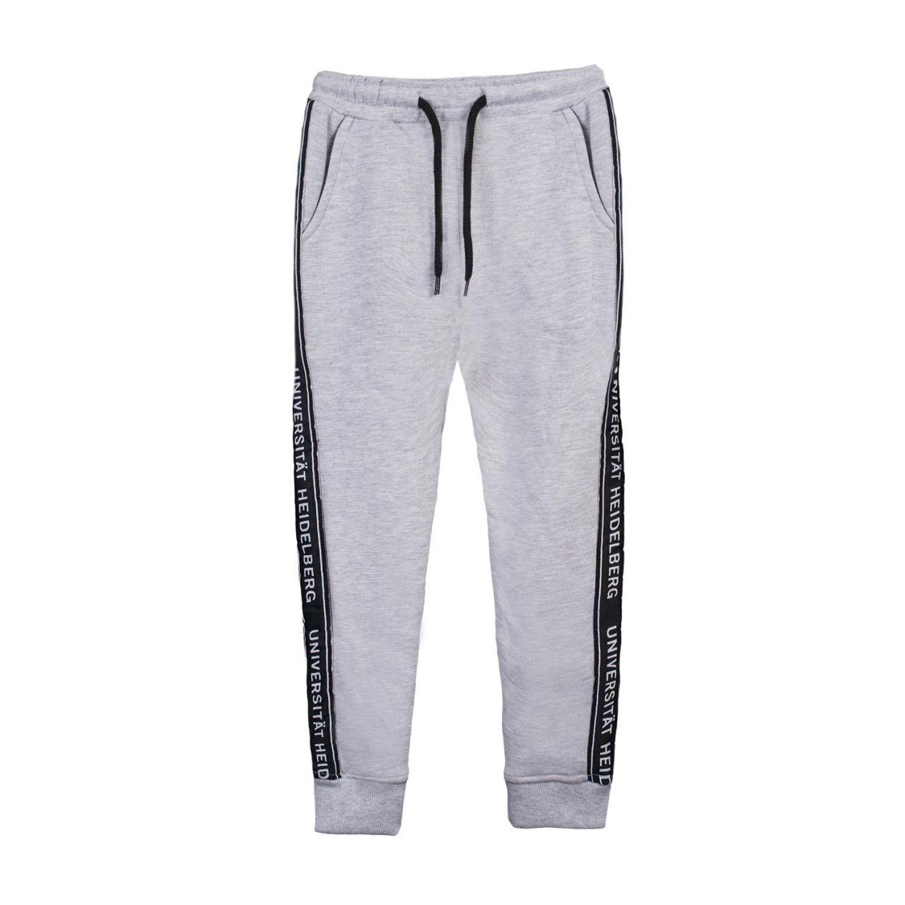 Herren Sweatpants, heather grey, tape