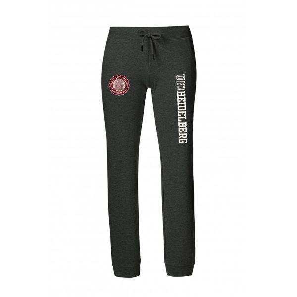 Women's Organic Sweatpants, dark heather grey, seal