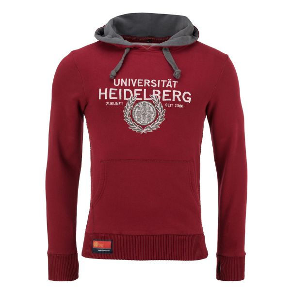 Exclusive Hooded Sweatshirt, burgundy/grey