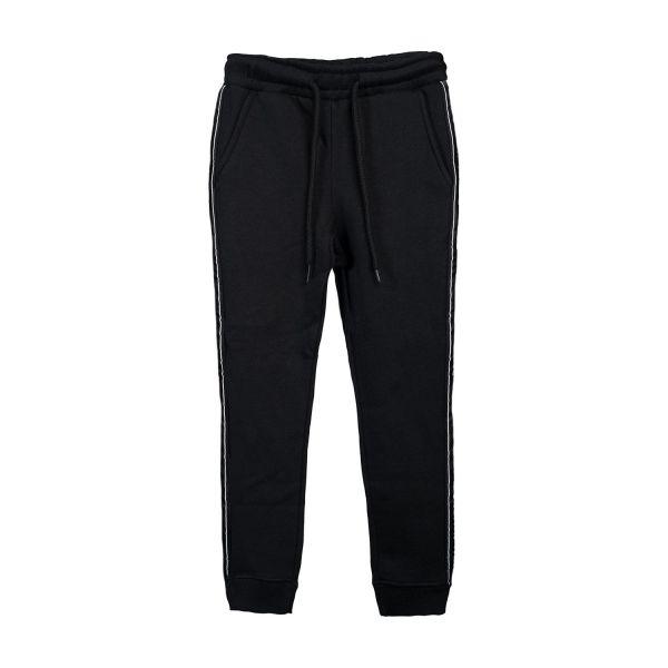 Herren Sweatpants, black, tape