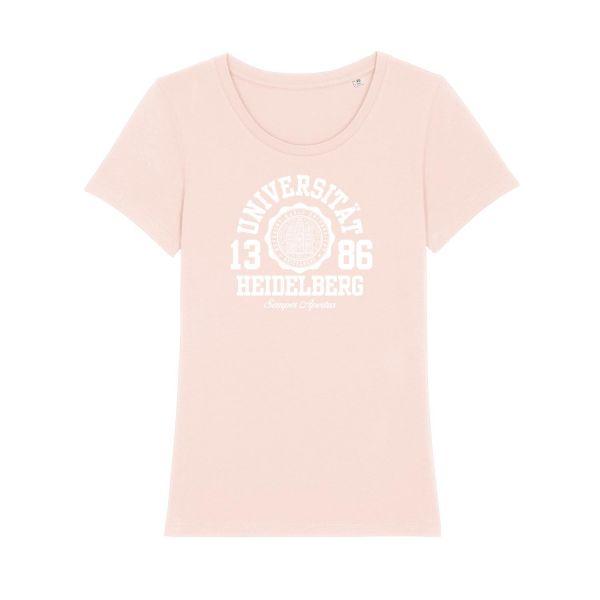 Damen Organic T-Shirt, candy pink, marshall